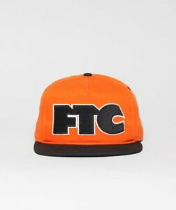 FTC Skateshop Sf Cap cap hat Snapback 5 Panel Og Logo Orange black San Francis