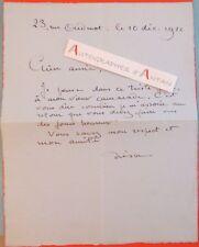 L.A.S 1926 André SAGLIO dit DRESA Peintre créateur décors né Versailles lettre