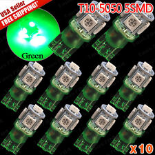 10 X Green T10 Interior/License Plate 5050 SMD LED Light BULBS 2015 NEW