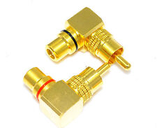 4 pcs RCA Audio Plug to Jack 1 Male to 1 Female Connector High end E0524 USA