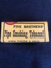 Five Brothers Vintage Pipe Smoking Tobacco Package