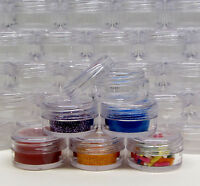 Cosmetic Containers Makeup Jars Plastic Lip Balm Pot 5 Gram Clear (50 pcs) #5014