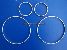 For Mitsubishi FTO 94-00 Chrome Dial Rings Polished Aluminium Surrounds Set Of 4