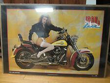 Vintage FXR-1340 Custom harley davidson Car Garage poster man cave hot girl 265