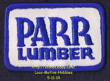 Lmh Patch Badge Parr Lumber Co. Building Supply Materials Old Logo Oregon