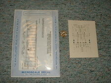 Microscale  decals N 60-493 Missouri Pacific covered hoppers   F86