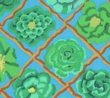 REMNANT Kaffe Fassett Collective Camellias on Blue Fabric - End of Roll 43cm