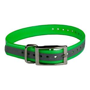 """The Buzzard's Roost Reflective Collar Strap 1"""" Green 1"""" x 24"""" BUZZ-COLLAR-R-G"""
