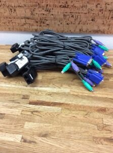 LOT OF 10 IBM USB KVM CONVERSION CABLES: 39M2901 EXCELLENT USED CONDITION 1A