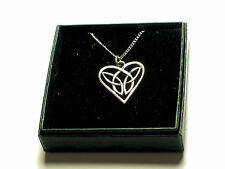 Celtic Interlaced Heart English Pewter Pendant on chain  Viking, Norse
