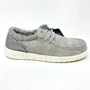 Hey Dude Poly Grey Womens Casual Lightweight Shoes 121883000