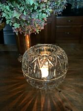 Homco Round 2-pc. Clear Diamond Cut Fairy Light Candle Holder