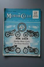 R&L Mag: The Motor Cycle 16 Oct 1958 Frank Williams Racer Sprinter/Engine Tuning
