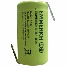 Emmerich SC3000 NiMH Sub-C Size 1.2V 3000mAh Rechargeable Battery Tagged