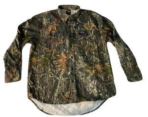 L Scent Shield Camo Mossy Oak Break Up Shirt Long Sleeve Button Down Camouflage
