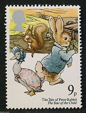Peter Rabbit, Jemma Puddle-Duck & Scoiattolo Nutkin su 1979 FRANCOBOLLI-U/M