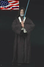 1/6 STAR WARS Jedi Knight Obi-Wan Kenobi Clothing Lightsaber Set DARK BROWN USA