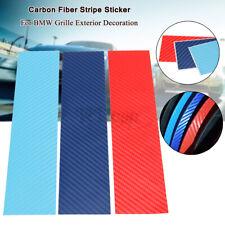 M-Color Carbon Fiber Stripe Decal Sticker Kit For BMW Car Grille Exterior