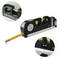 Laser Level Line Aligner Tape 250CM Tape Measures Bubbles Horizontal Vertical AU
