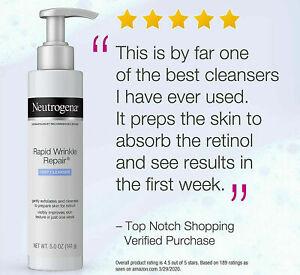 Neutrogena Rapid Wrinkle Repair Prep Cleanser Face Wash Exfoliant/Texture Improv
