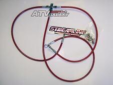 "STREAMLINE +1"" FRONT BRAKE LINES LINE KIT ATV RED HONDA TRX250EX TRX250X  2001+"