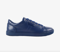 Dolce & Gabbana D&G Calf Leather Sneakers - Blue REDUCED - WERE £350, NOW £200!