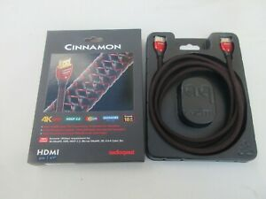 """Audioquest Cinnamon HDMI Cable 2m 6'7""""  4K HDR 18 G bps NEW"""
