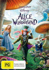 Alice in Wonderland 2010 DVD NEW Johnny Depp Anne Hathaway Helena Bonham-Carter