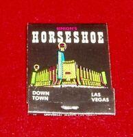 Vintage Las Vegas  Horseshoe Hotel Matchbook Unstruck