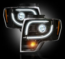 2013-2014 Ford F150 & Raptor RECON Smoked ULTRA Projector LED Headlights