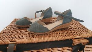 Size 6.5 Wider Fit Grey Footglove Sandals. NEW