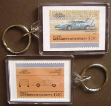 1970 PLYMOUTH Superbird (NASCAR) Car Stamp Keyring (Auto 100 Automobile)