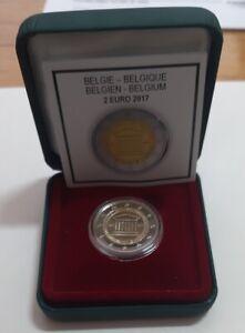 """BELGIEN - 2 EUROS Gedenkmünzen 2017 """" Universität Gent """"  PROOF - PP - BE"""