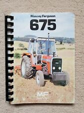 MASSEY FERGUSON 675 TRACTOR OPERATORS MANUAL