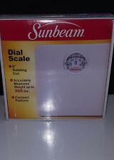 Sunbeam Dial Bathroom Scale Compact 4 Easy Storage Accurate Up to 300 lbs White