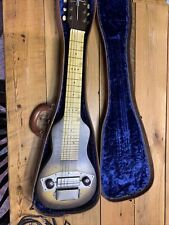 Vintage 1950s Silvertone Electric Guitar w/case Small Size 6 String
