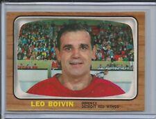 1966-67 Topps Hockey #50 Leo Boivin (Red Wings) - High Grade - (Box DP)