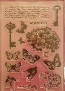 CraftbuddyUS Vintage Dreams Messages Stamp Set (DBS07)