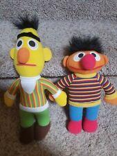 "Vintage PlaySkool Sesame Street Bert and Ernie 12"" Plush Dolls 1984"
