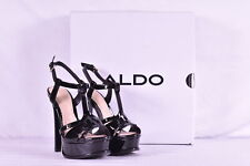 Women's Aldo Chelly Platform Peep Toe High Heeled Sandals, Black