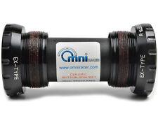 OMNI Racer Ti CERAMIC Integrated Bottom Bracket MTB Fits Deore XTR XT SLX BLACK