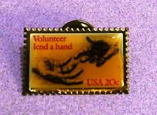 U.S. Postal Service .20 Lapel or Tack Pin Volunteer Lend a Hand