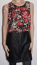 HOT OPTIONS Brand Black Faux Leather Skirt Top Dress Size 14 BNWT #SU90