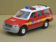"""Ford Expedition """"Fire N.Y.P.D."""", o.OVP, Tins Toys, 1:38, Feuerwehr"""
