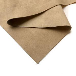Thin BEIGE Genuine Suede Leather Sheet 8x10in/20x25cm 1.25oz/0.5 mm NOUGAT 753