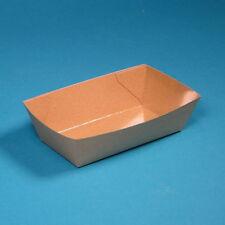 1000 Snackschalen Pommesschalen Imbissschalen155x90x42mm braun Hartpapier