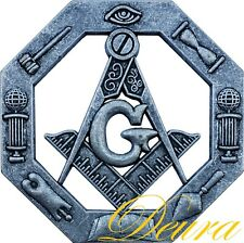 "Masonic Car Emblem Master Mason 3D Die Cut Out 3"" Inch Antique Oxidized DP2"