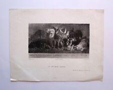 Lithographie, Les sept péchés capitaux, Celestin Nanteuil, XIXè