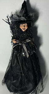Wayne Kleski Halloween Witch Doll Cone Body Katherines Collection Black/ Silver