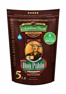 5LB Don Pablo Colombian Decaf - Swiss Water Process Decaffeinated - Medium-Da...